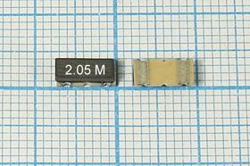 Керамические резонаторы 2.05МГц, SMD 7.4x3.4мм с двумя контактами, пкер 2050 \C07434C2\\4000\ \ZTACC2,05MG\