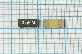 Керамические резонаторы 3.58МГц, SMD 7.4x3.4мм с двумя контактами, пкер 3580 \C07434C2\\4000\3000/ -20~80C\ZTACC3,58MG\