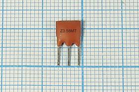 Керамические резонаторы 3.58МГц с двумя выводами, коричневые, 3580 \C07x5x08P3\30\ 5000\\ZTT3,58MT\3P