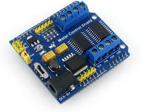 Фото 1/4 Motor Control Shield, Плата расширения для Arduino на базе 2 х L293D, позволяет управлять 4 DC или 2 шаговыми двигателями