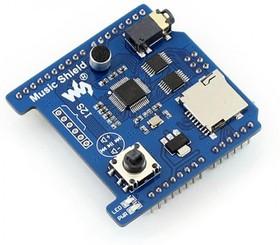 Фото 1/5 Music Shield, Плата расширения для Arduino на основе VS1053B с возможностью записи и воспроизведения Audio