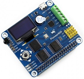 """Фото 1/5 Pioneer600, Многофункциональная плата расширения для Raspberry Pi Model B+ / Pi 2 / Pi 3 с OLED дисплеем 0.96"""""""