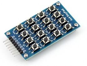 Фото 1/4 4x4 Keypad, Клавиатура для Arduino проектов, 16 кнопок (матрица 4х4)