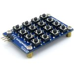 Фото 5/5 AD Keypad, Клавиатура для Arduino проектов, 16 кнопок (матрица 4х4) с одним аналоговым выходом
