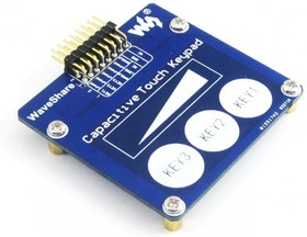 Фото 1/5 Capacitive Touch Keypad, Емкостная сенсорная клавиатура, 3 сенсорных клавиши и 1 линейный датчик касания