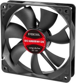 EC12025M12SP, Вентилятор 12В, подш. скольжения, 120х120х25мм, 2300 об/мин, кабель 3-- 4pin (PWM)