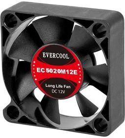EC5020M12SP, Вентилятор 12В, 50х50х20мм, подш. скольжения, 4500 об/мин, кабель 3-- 4pin (PWM)