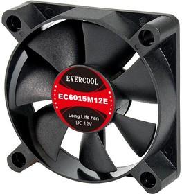 EC6015H12SP, Вентилятор 12В, подш. скольжения, 60х60х15мм, 4500 об/мин., кабель 3-- 4pin (PWM)