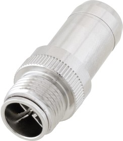 M128XM-MLD, M12 8 POSITION X-CODE MOLD CONNECTOR, MALE, SHIELDED 97AC8809