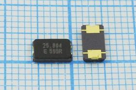 кварцевый резонатор 25.804МГц в корпусе SMD 6x3,5мм с двумя выводами, нагрузка 12.5пФ, 25804,8 \SMD06035C2\12,5\50\ 30/-20~70C\FA-365\1Г