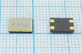 кварцевый резонатор 7.3728МГц, 4-х контактые SMD 7x5мм, нагрузка 18пФ, 7372,8 \SMD07050C4\18\ 20\ 30/-20~70C\C7SB\1Г CREC