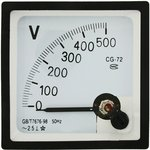 Вольтметр 500В 50гц (72х72)
