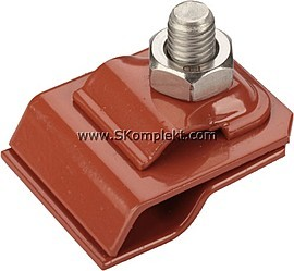 GL-11545A, GALMAR Зажим на водосточный желоб для токоотвода (оцинк. сталь с покраской)
