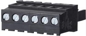 31214105, Съемная клеммная колодка, 5.08 мм, 5 вывод(-ов), 28AWG до 12AWG, 4 мм², Винт, 12 А