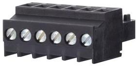 31613106, Съемная клеммная колодка, 3.5 мм, 6 вывод(-ов), 28AWG до 16AWG, 1.5 мм², Винт, 10 А
