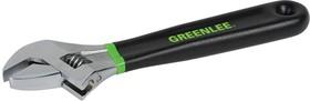 GT-0154-08D, Greenlee ключ гаечный разводной GT-0154-08D 8''
