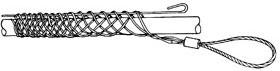 GT-30658, Greenlee чулок проходной 12,7-15,5 мм,петля 178мм ,длина 152мм, 1,3 кН