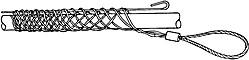 GT-30660, Greenlee чулок проходной 19,0-25,3 мм,петля 178мм ,длина 254мм, 1,9 кН