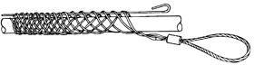 GT-31032, Greenlee чулок проходной 76,2-88,8 мм,петля 305мм ,длина 533мм, 10,6 кН