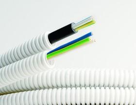 Труба гофрированная ПВХ д.16мм с кабелем РЭК ГОСТ+ ВВГнгLS 3*2.5 (50м)