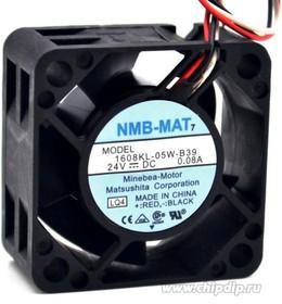 Вентилятор NMB-MAT 1608KL-05W-B39 40x20мм 24В 0.08А