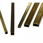 Латунная труба квадратная 10 х 10 х 1200 мм (стенка 1,0мм)