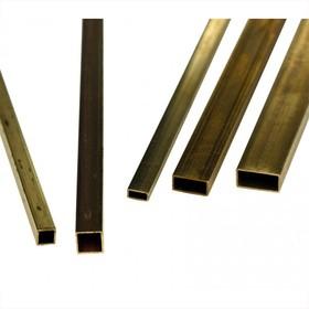 Латунь трубка прямоугольная 10 х 20 х 200 (стенка 1 мм)