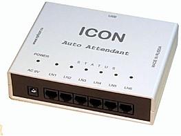 IC-AA456USB, ICON AA456USB, Интеллектуальный автосекретарь на 6 линий. Объем памяти 120 мин, 40 голосовых меню, 2