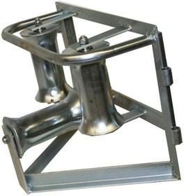 KM-105051, Katimex угловой горизонтальный кабельный ролик для кабеля max ø 140мм (сталь)