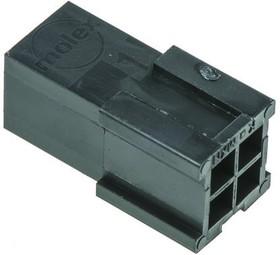 926300-3, Conn Housing PL 6 POS 6.35mm Crimp ST Cable Mount Natural Bag
