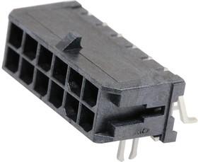 43045-1206, Разъем типа провод-плата, 3 мм, 12 контакт(-ов), Штыревой Разъем, Micro-Fit 3.0 43045 Series