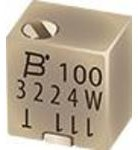 Фото 1/4 3224J-1-502E, Res Cermet Trimmer 5K Ohm 10% 0.25W(1/4W) 12(Elec)Turns 1.5mm (4.8 X 5 X 3.71mm) J-Hook SMD T/R