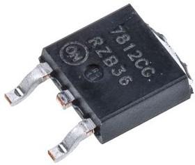 Фото 1/2 MC7812CDTRKG, Standard Regulator Pos 12V 1A 3-Pin(2+Tab) DPAK T/R