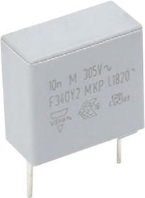 F340Y244730MKM2T0, Конденсатор Безопасности, 0.47 мкФ, Y2, F340 Series, 305 В, Metallized PP