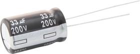 Фото 1/3 ECA1VHG221, Электролитический конденсатор, 220 мкФ, 35 В, Серия NHG, ± 20%, Радиальные Выводы, 8 мм