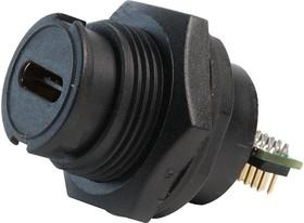MP002443, Герметичный разъем USB, USB Типа C, USB 3.1, Штекер, 24 Позиции, Монтаж в Панель, IP67