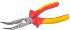 """ST-0-84-008, Длинногубцы с изогнутыми губками для электрика изолированные MaxSteel """"VDE"""" 1000В, 200 мм"""
