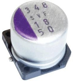 35SVF39M, Polymer Aluminium Electrolytic Capacitor, 39 мкФ, 35 В, Radial Can - SMD, OS-CON SVF Series