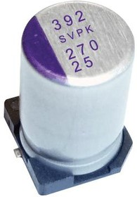 35SVPK180M, Polymer Aluminium Electrolytic Capacitor, 180 мкФ, 35 В, Radial Can - SMD, OS-CON SVPK Series