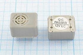Излучатель звука механический с генератором 12В и управляющим контактом, 23x16x15мм,звуком 0.4кГц, управ згм 23x16x15\12\\0,4\ 4P\CMB-12\-40