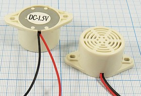 Излучатель звука механический с генератором 1~2В, 26x17мм,непрерывным звуком 0.4кГц,чёрные, згм 26,4x17,6m41\ 1,5\\\2L150\ KPMB-G2615L\KEPO
