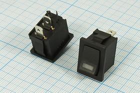 Клавишный выключатель 12В/10А, с жёлтой подсветкой 2862 А ПКл\ 2T2C\10А12В\ON-OFF\\ ILжелСД-12В\MIRS101-3D\