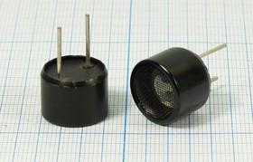 Фото 1/2 Ультразвуковой пластмассовый передатчик 40кГц, 16x12мм с круговой диаграммой направленности 65град; Tr уп 16x12\\40\2P10\VS- P1640H12T\VOISE