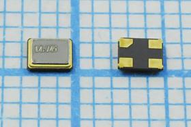 кварцевый резонатор 14.7456МГц в корпусе SMD 2.5x2мм , нагрузка 12пФ, 14745,6 \SMD02520C4\12\ 10\ 30/-40~85C\S2520\STE