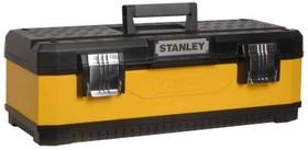 """Фото 1/2 ST-1-95-612, Ящик для инструмента """"STANLEY"""" металлопластмассовый желтый (20080) 20"""" / 49,7 X 29,3 X 22,2 см"""