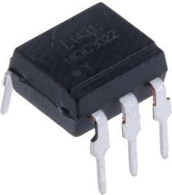 MOC3022, OPTOCOUPLER TRIAC OUTPUT, 400V, DIP6