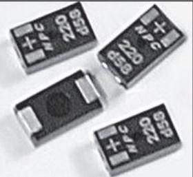 NPC331M2D6YATRF, Cap Aluminum Polymer 330uF 2VDC 20% (7.3 X 4.3 X 1.9mm) SMD 0.006 Ohm 7500mA 2000h 105°C T/R