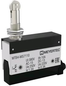 MTB4-MS7110, Выключатель концевой, 10A, IP54, поворотный нажимной ролик