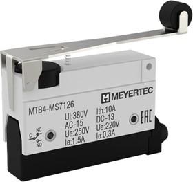 MTB4-MS7126, Выключатель концевой, 10A, IP54, рычаг с роликом