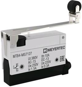 MTB4-MS7127, Выключатель концевой, 10A, IP54, рычаг с поворотным роликом